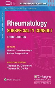 Washington Manual Rheumatology Subspecialty Consult,3/e