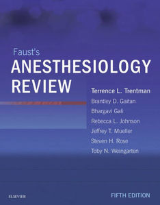 Faust's Anesthesiology Review,5/e
