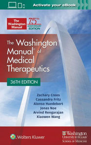 The Washington Manual of Medical Therapeutics,36/e(MMT)워싱턴매뉴얼,