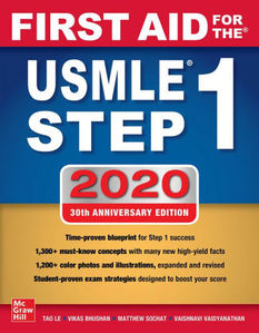 First Aid for the USMLE Step 1 2020,30/e